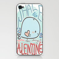 Whale You Be My Valentine iPhone & iPod Skin by xjen94