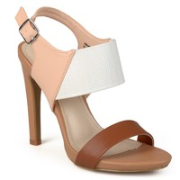 Brinley Co. Womens Ankle Strap Patent Tonal Pumps - Pumps - Heels - Shoes - MyFashionCorner