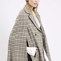 Heritage Check Cape - Topshop