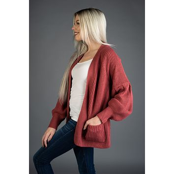 Here With You Rose Cardigan