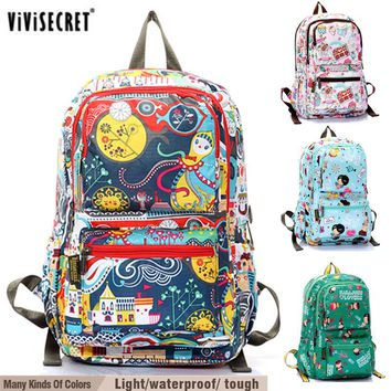 2017 vivisecret Boy's Kid's Children School backpack Mochilas infantil knapsack infantry pack Satchel Bag Cute Cartoon Printing