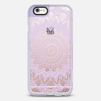 BOHOCHIC MANDALA IN PASTEL PURPLE - CRYSTAL CLEAR PHONE CASE iPhone 6s case by Nika Martinez | Casetify