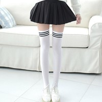 1 Pair Thigh High Stockings