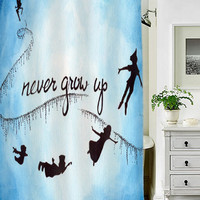 peter pan never grow up special custom shower curtains that will make your bathroom adorable