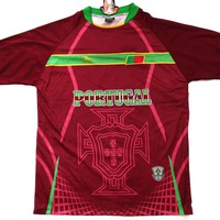 """Portugal Country Soccer Jersey """"One Size"""" = Athletic Men's Large by Drako"""