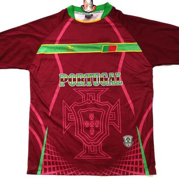 "Portugal Country Soccer Jersey ""One Size"" = Athletic Men's Large by Drako"