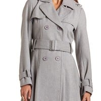 Pleated Back Wool Coat