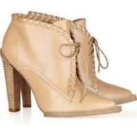 Alexander Wang / Sofi whipstitched leather ankle boots/ THE OUTNET