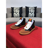 Gucci Men's Leather High Top Sneakers Shoes