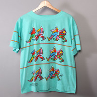 """80s PETER MAX NeoMax T-SHIRT / 1980s Psychedelic """"Groovin"""" Art Tshirt Tee"""