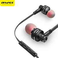 Awei ES-10TY Earphone Metal Stereo Headset 3.5mm In-Ear Noise Reduction Earbuds Headphone With Mic Earphone For Phone
