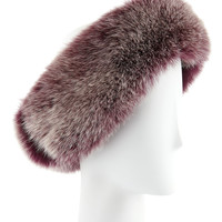 Fox Fur Headband, Beet Root - Sofia Cashmere - Beet root