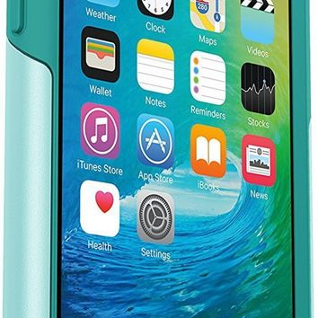 ONETOW OtterBox COMMUTER SERIES Case for iPhone 6S and iPhone 6 (NOT Plus) - Retail Packaging - AQUA SKY (AQUA BLUE/LIGHT TEAL)