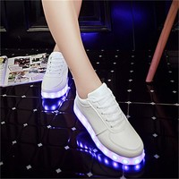 New Fashion USB LED Light Up Shoes Glowing Shoes, Luminous Sneakers with Light UP LED Soles.