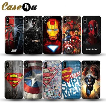 Deadpool Dead pool Taco Marvel Super Hero Superman Case Cover for iPhone X 8 Plus 7 6 6s Phone Cases  Batman Avengers for iPhone 7Plus iPhone7 AT_70_6