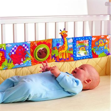 Baby Toys Baby Cloth Book Knowledge Around Multi-touch Multifunction Fun And Double Color Colorful Bed Bumper 0-12 Months