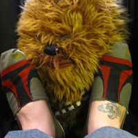 Custom Painted Boba Fett Toms I've Got a Boba by GeekyFootware