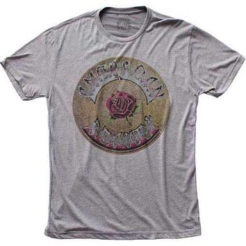 Adult Grateful Dead American Beauty Tri Blend Tee Shirt