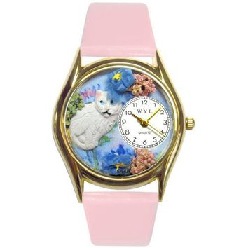 White Cat Watch Small Gold Style