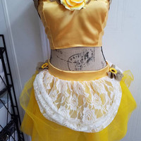 Belle - disney - princess - beauty - and - the  - beast - pinup - pin - up - geek - chic - costume - cosplay - dress - up