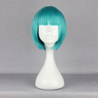 Harajuku Powder-Blue Short Synthetic Fiber High Temperature Cosplay Costume Hair Wig Anime