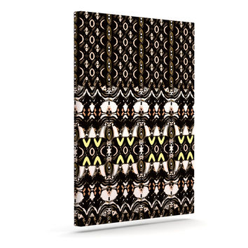"Dawid Roc ""The Palace Walls"" Brown Black Canvas Art"