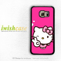 Hello Kitty Girl Samsung Galaxy S3 Case S4 Case S5 Case S6 Case S6 Edge Case