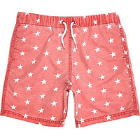 River Island Boys red star print swim trunks
