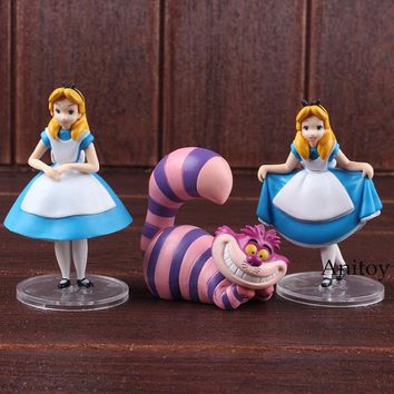 Ultra Detail Figure Alice in Wonderland Alice & Cheshire Cat PVC Anime Figure MEDICOM TOY Collectible Model Toys Dolls 3-pack