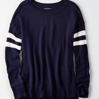 AE Step-Hem Sweater, Navy