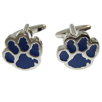 Blue Animal Paw Track Cufflinks