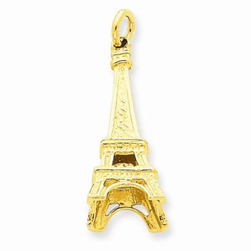 14k Yellow Gold Eiffel Tower Charm