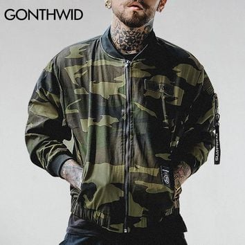 Cool GONTHWID 2017 Mens Camouflage Bomber Jackets Men's Embroidered Zipper Military Army Green Camo Bomber Jacket Male Thin JacketsAT_93_12