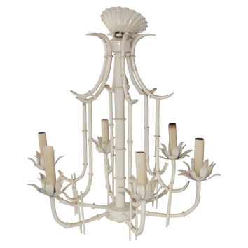 Bamboo-Style Pagoda Tole Chandelier