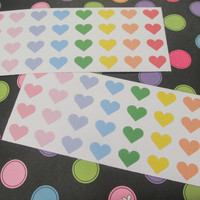36 Heart Stickers- Perfect for your Erin Condren, Filo Fax, Plum Paper and more!