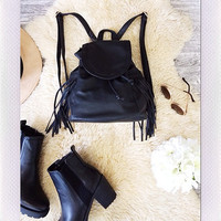 Fringe Me Mini Bag- Black