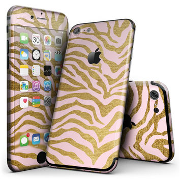 Pink Gold Flaked Animal v4 - 4-Piece Skin Kit for the iPhone 7 or 7 Plus