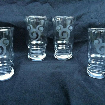 Mickey Swirl Chesapeake Tumbler Set of 4