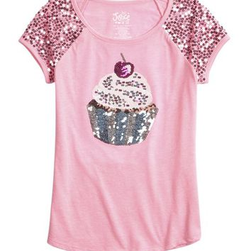 SEQUIN CUPCAKE GRAPHIC TEE | GIRLS SWEET SPARKLE THE COLLECTIONS | SHOP JUSTICE