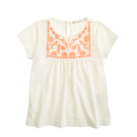 crewcuts Girls Embroidered Solid Tee