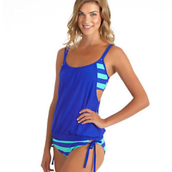 Next by Athena Lined Up Double Up Tankini Top & Tubular Tunnel-Tie Bottom | Dillard's Mobile