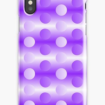 'Modern polka dots, two tones neon pattern, bit trippy' iPhone Case by cool-shirts