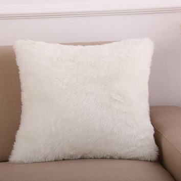 Faux Fur Decorative Cushion Cover