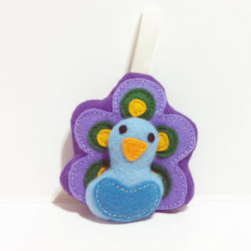 Peacock Keychain / Felt Ornament [READY TO SHIP]
