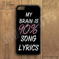 iPhone 7 7 Plus - Cool Brain Song Music Cute Funny Quote Phone Case For iPhone 6 Plus For iPhone 6 For iPhone 5/5S For iPhone 4/4S For iPhone 5C3 iPhone X 8 8 Plus