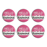 Rosamond Hello My Name Is Plastic Resin Button Set of 6