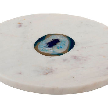 Marble & Blue Agate Round Board, Cheese Boards & Cheese Board Sets