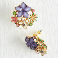 Vintage Inspired Bouquet Brilliance Earrings by ModCloth