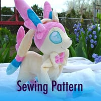 SALE Instant Download Pokemon Sylveon Plushie by dolphinwing