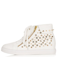 ACCELERATE Stud Wedge Trainers - View All - Shoes - Topshop